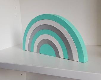 Wooden Rainbow Stacking Decoration (7-piece) - Wooden Decor/Nursery Decor/Stacking Rainbow/Rainbow/Personalised/Keepsake/Handmade/Rainbow