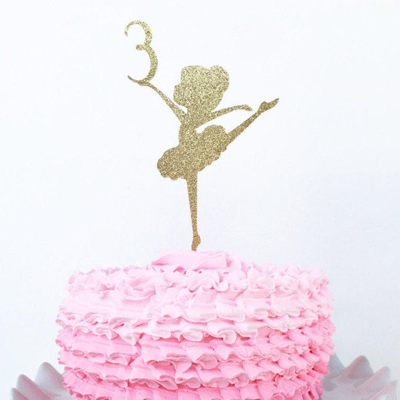 Ballerina Cake Topper Custom Age Cake Topper Personalized