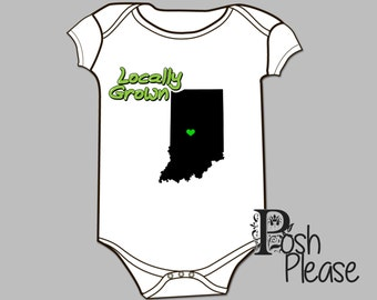 Newborn Outfit Locally Grown Gender Neutral Baby Outfit Newborn Coming Home Outfit BodySuit Gender Neutral OnePiece Baby Shower Gift