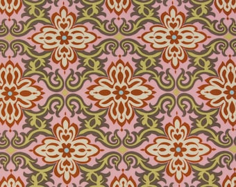 Amy Butler OOP Fabric for Rowan  -  Lotus Collection  -  Temple Garland AB20 in Pink  -  Tea Box Color Story  -  1-7/8 Yards