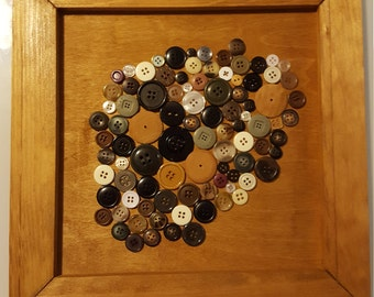 Abstract Button Wall Frame