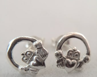 children the shamrock claddagh silver plated stud twisted childrens earrings s