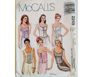 "McCall's #2249 Misses' Lined Bustier Corset Top Sewing Pattern 6 Options 3 Sizes UK 16 18 20 Bust 38"" 40"" 42"""