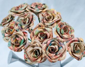 Half dozen 6 comic book paper roses one dozen long stem comic book paper roses mightylinksfo
