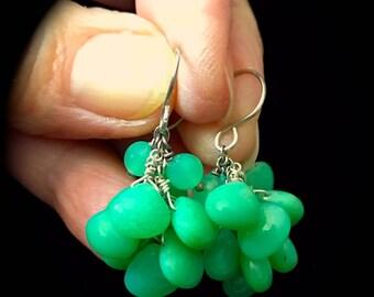 Beautiful glowing Chrysoprase earrings