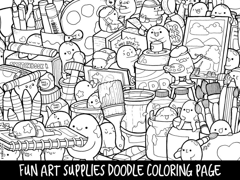 zoom - Doodle Coloring Pages