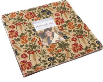 """Harvest Hill Layer Cake by Kansas Troubles Quilters for Moda Fabrics 42 10"""" Fabric Squares"""