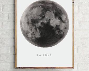 Phasen des Mondes, Mond, minimalistischen Kunst, Kunst abstrakt Mond, Kunst moderne Mond, moderne Dekoration, Dekoration Haus, Abbildung Mond