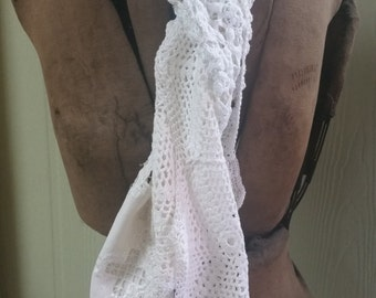 RECYCLED--Reclaimed Vintage Doily Scarf