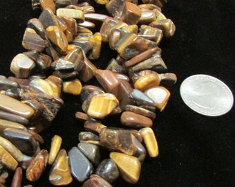Tigereye 10-18mm nugget bead strands