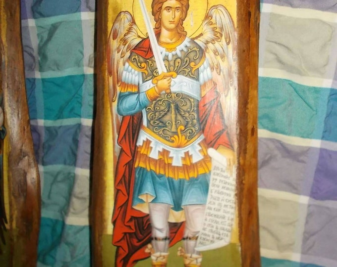 Archangel Michael,Custom made Orthodox icon,archangel Michael ,Religious icon,Vintage Orthodox icon ,Byzantine icon,st michael icon