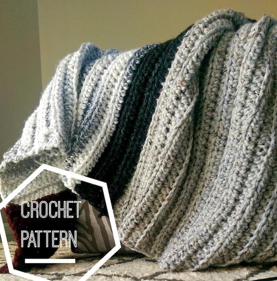 Chunky Crochet Blanket Pattern Beginner Crochet Pattern