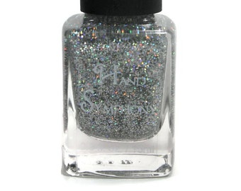 Angel- Silver Glitter Nail Polish,5 Free Polish,Glitter Nail Polish,Holographic Polish,Holo Polish,Silver Glitter Nail Polish,Vegan Polish