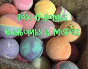 Box O Bombs - Oddbomb & Misfit Bath bombs - Clearance Bath bombs - Cheap Bath Bombs - 25 Bath bombs