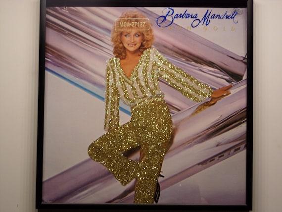 Glittered Record Album - Barbara Mandrell - Spun Gold