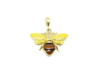 Bee Charm 14kt Yellow Gold