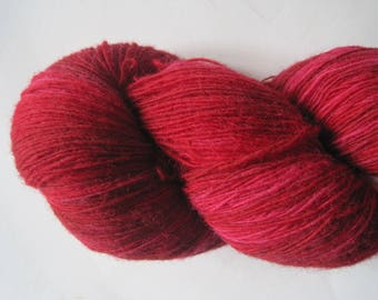 136g. 1 ply 8/1 Kauni yarn High quality 100% PURE wool Artistic yarn from Estonia which assures environmental friendliness Color Red II