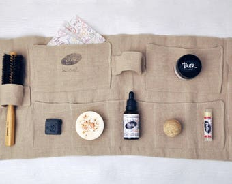 100% Linen Washable and Pratical Travel Kit