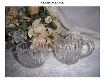 Crystal Cream and Sugar Set - Clearance Sale
