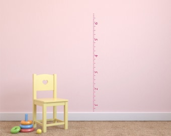 Ruler Growth Chart Vinyl Wall Decal - Nursery Growth Chart Vinyl Wall Decal - Child's Room Growth Chart Ruler Wall Decal