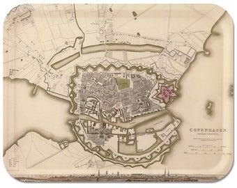 "Copenhagen 1837 Map Tray 16"" 1/2""x12"" 1/2"