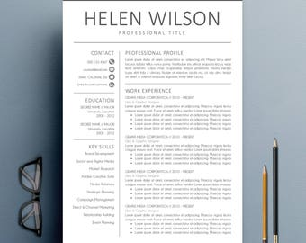 Modern Resume Template | CV Template + Cover Letter + Reference Letter For  Word | Instant