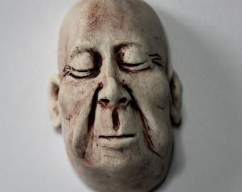 Porcelain Wall Hanging Man's Face