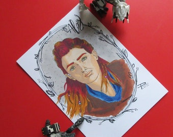 A5 Aloy Horizon Zero Dawn promarker drawing / marker