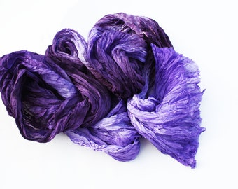 Lilac imagination -  lilac, purple, plum, violet silk scarf.
