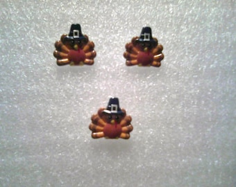 Turkey Pin and Earrings Set
