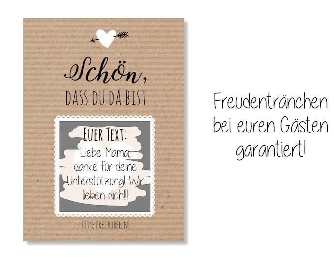 Guest Gift Wedding-Scratch cards kraft paper