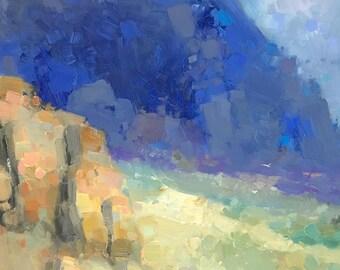 Seascape, Original oil painting, Handmade artwork, one of a kind