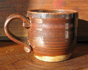 Dark Red: Handmade Pottery Mug, Ceramic Mug, Stoneware Coffee Cup
