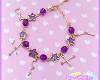 Constellation braclet cute and kawaii lolita style light purple