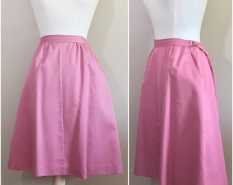 Rose A Line Skirt by Koret // Pink Vintage Skirt