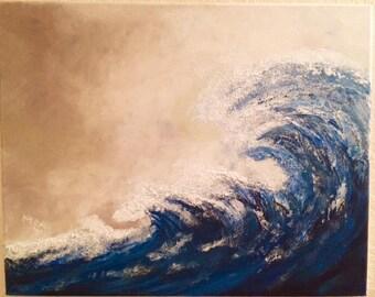 Ocean Wave Acrylic  Painting