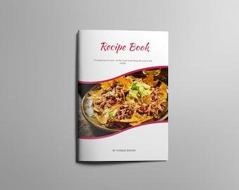 Recipe Book | Recipe Template | Recipe Book Template | Printable Recipe | Cookbook  Template |
