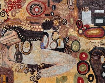 "Gustav Klimt  ""Kiss"" - Mosaic Reproduction"