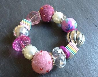 Colourful beaded bracelet