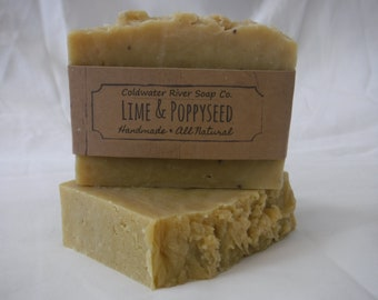 Lime + Poppyseed All Natural Soap