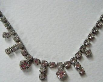 Vintage rhinestone Choker//Nw Years Eve //Black Tie Affair Bridal Jewelry