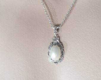Victorian PEARL necklace wedding necklace silver bridal necklace wedding jewelry bridal jewelry bridesmaid accessories bridal accessories