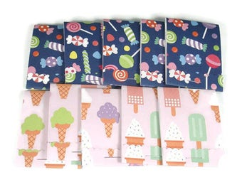 Party Favor Set of 20 Matchbook Notepads Mini Note Pads in Sweet Treats