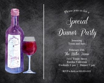 Special Dinner Party Invitation 5x7 Custom Digital Card