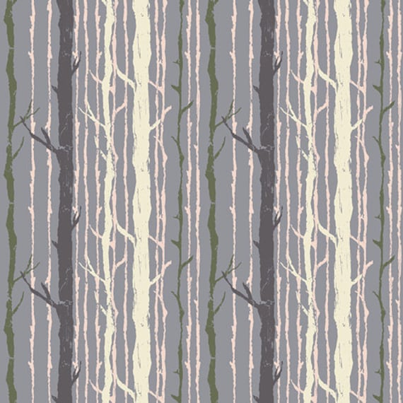 Forest Lake Fabric Home: Tree Fabric Birch Trees Enchanted Forest Fabric Timber