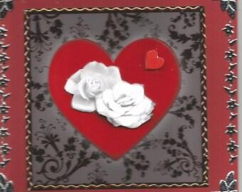 Wedding, Valentine, 3d card, hand made, class Valentine's day.