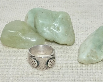 Silver band ring, comfortable ring, boho ring, pure silver ring, lightweight ring, tribal ring, man ring, rustic ring, statement ring