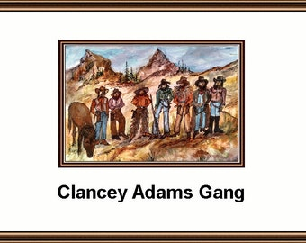 9 X 13 Watercolor Print   By Joyce Lee  Called The Clancey Gang