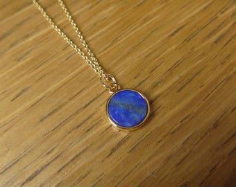 Goldfilled round lapis lazuli