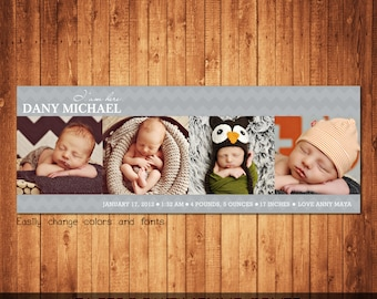 Baby Shower Facebook Timeline Cover Template Photo Collage Photoshop template instant download
